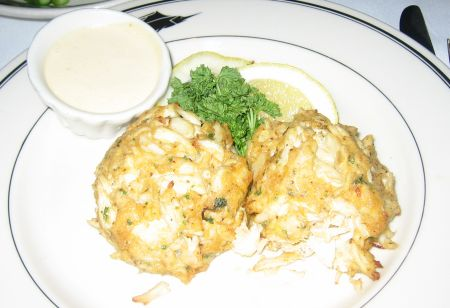 Crabcakes at The Oceanaire