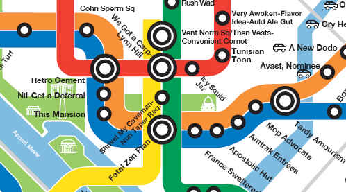 Anagram map of Metrorail from genecowan